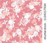 flower illustration pattern  i... | Shutterstock .eps vector #1134217034