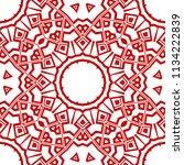 seamless floral geometric... | Shutterstock .eps vector #1134222839