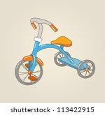 kid's tricycle  vector...   Shutterstock .eps vector #113422915