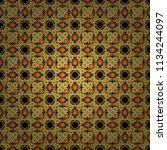 beautiful vector kaleidoscope...   Shutterstock .eps vector #1134244097