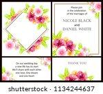 vintage delicate greeting... | Shutterstock . vector #1134244637
