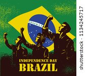 independence day of brazil... | Shutterstock .eps vector #1134245717