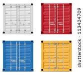 cargo container vector...