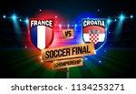 soccer final match between... | Shutterstock .eps vector #1134253271