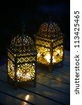 White Glowing Lanterns With...