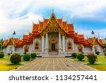 wat benchamabophit dusitvanaram ... | Shutterstock . vector #1134257441