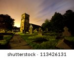 English Church At Night In A...