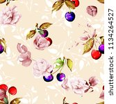 seamless floral background with ... | Shutterstock .eps vector #1134264527