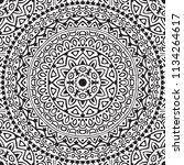 seamless pattern with mandala.... | Shutterstock . vector #1134264617