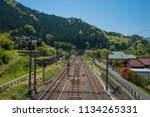 old japanese railway | Shutterstock . vector #1134265331