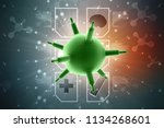 3d rendering viruses in... | Shutterstock . vector #1134268601