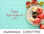 rosh hashanah  jewish new year... | Shutterstock . vector #1134277451