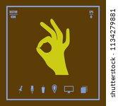 hand showing  okay ok  gesture...