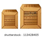 Vector Illustration Of Wooden...