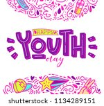 happy youth day. beautiful... | Shutterstock .eps vector #1134289151