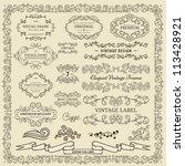 set of vintage design elements. | Shutterstock .eps vector #113428921