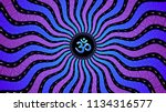 divinely symbol om  spiritual... | Shutterstock .eps vector #1134316577