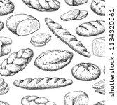 bread seamless pattern. vector... | Shutterstock .eps vector #1134320561