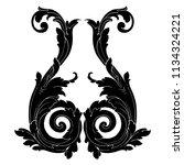 retro baroque decorations... | Shutterstock .eps vector #1134324221