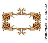 retro baroque decorations... | Shutterstock .eps vector #1134324665