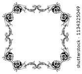 retro baroque decorations... | Shutterstock .eps vector #1134325049