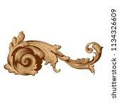 retro baroque decorations... | Shutterstock .eps vector #1134326609