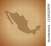 map of mexico   Shutterstock .eps vector #1134332939