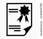 glyph certification pixel...   Shutterstock .eps vector #1134344705