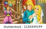 cartoon scene with married... | Shutterstock . vector #1134349199