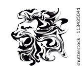 lion | Shutterstock .eps vector #113435041
