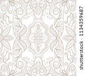 hand drawn seamless pattern ...   Shutterstock .eps vector #1134359687