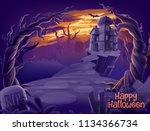 halloween horror illustration | Shutterstock .eps vector #1134366734
