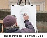 prague czech republic   03 14... | Shutterstock . vector #1134367811