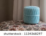 big ball of teal coloured yarn... | Shutterstock . vector #1134368297