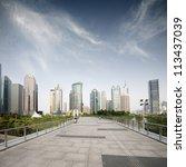 way to modern city in shanghai | Shutterstock . vector #113437039