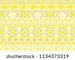 ethnic mexican tribal motifs... | Shutterstock .eps vector #1134373319
