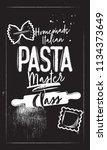 master class homemade italian... | Shutterstock .eps vector #1134373649