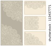vector vintage invitation card... | Shutterstock .eps vector #113437771