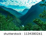 forrest valley in thailand | Shutterstock . vector #1134380261