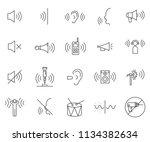 set of noise related vector... | Shutterstock .eps vector #1134382634