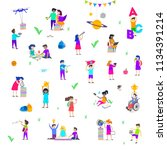 back to school   vector... | Shutterstock .eps vector #1134391214