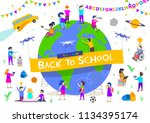 back to school vector... | Shutterstock .eps vector #1134395174