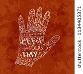 international left handers day. ...   Shutterstock .eps vector #1134405371