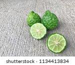 cross section bergamot or... | Shutterstock . vector #1134413834