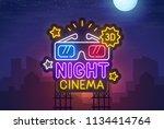 night city. sign neon. night... | Shutterstock .eps vector #1134414764