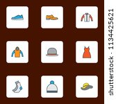 garment icons colored line set... | Shutterstock .eps vector #1134425621