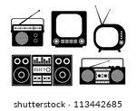 audio and tv icons | Shutterstock .eps vector #113442685