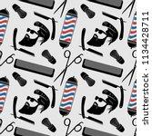 barbershop background  seamless ... | Shutterstock .eps vector #1134428711