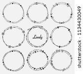 vector set of dividers round... | Shutterstock .eps vector #1134430049