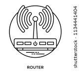 a hardware device transmitting ... | Shutterstock .eps vector #1134441404